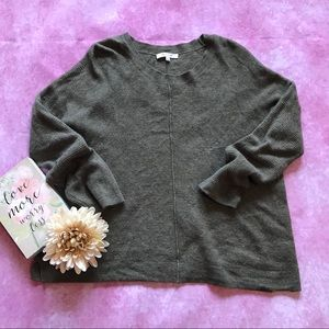 Madewell olive green sweater sz small merino wool